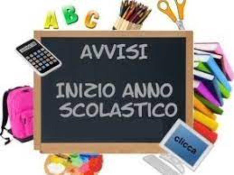 SCUOLA PRIMARIA - Comunicazione di avvio a.s. 2...